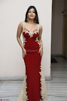 Rachana Smit in Red Deep neck Sleeveless Gown at Idem Deyyam music launch ~ Celebrities Exclusive Galleries 048.JPG