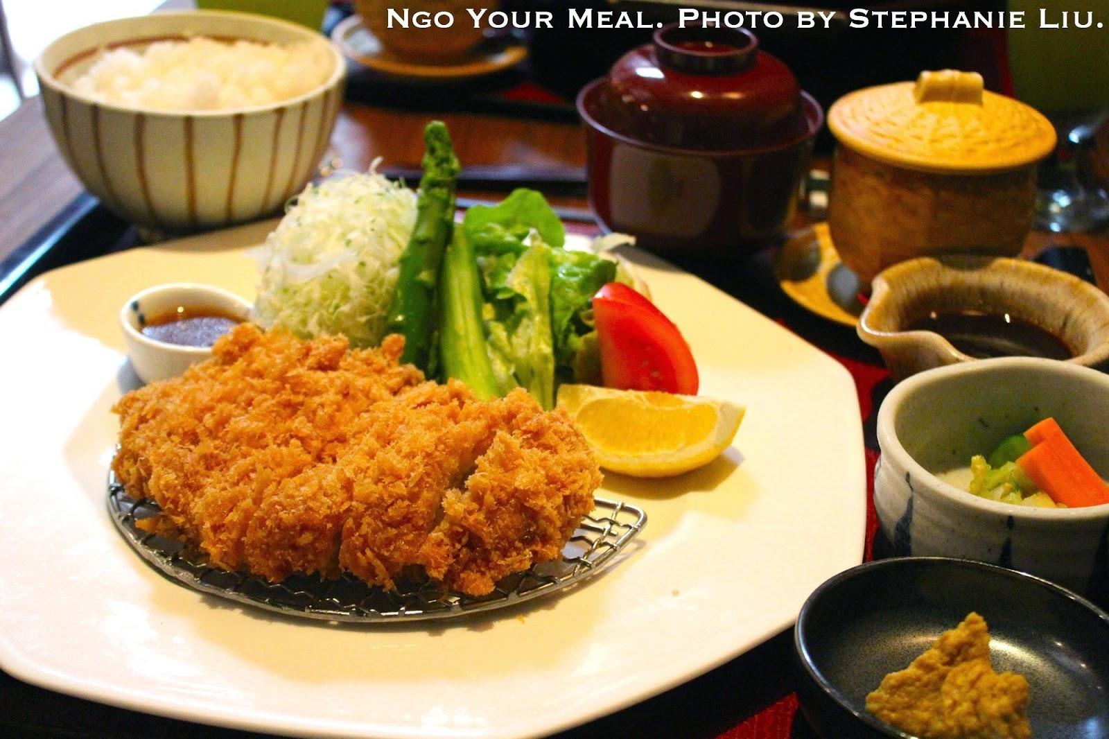 Tonkatsu at Ootoya