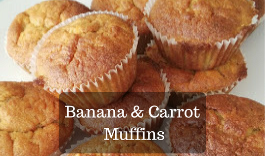 Muffins stacked side by side and on top of one another