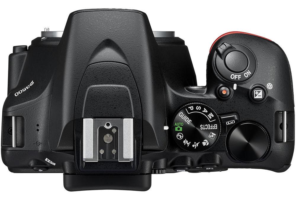 Nikon D3500, вид сверху