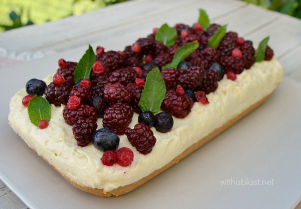 Easy Berry Cheesecake (No-Bake) ~ How to make a Basic, No-Bake Cheesecake topped with Berries ~ alternatives given for crust and more