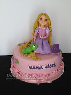 A Rapunzel no 4º aniversário da Maria Clara