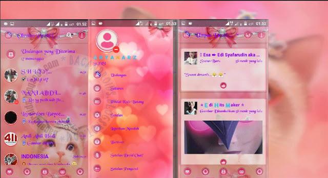 BBM Mod Droid Chat Meong Pussy Theme v13.1.13 Base v3.1.0.13 APk Terbaru