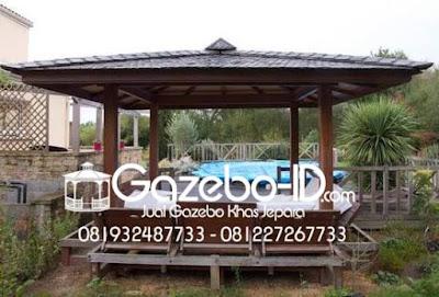 Gazebo Minmalis Jati