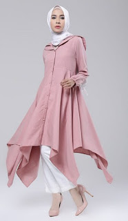 Model baju muslim tunik trendy