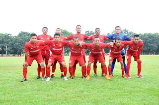 Tim Gabungan 4 Juara Sepak Bola Antar Satker Mabes TNI