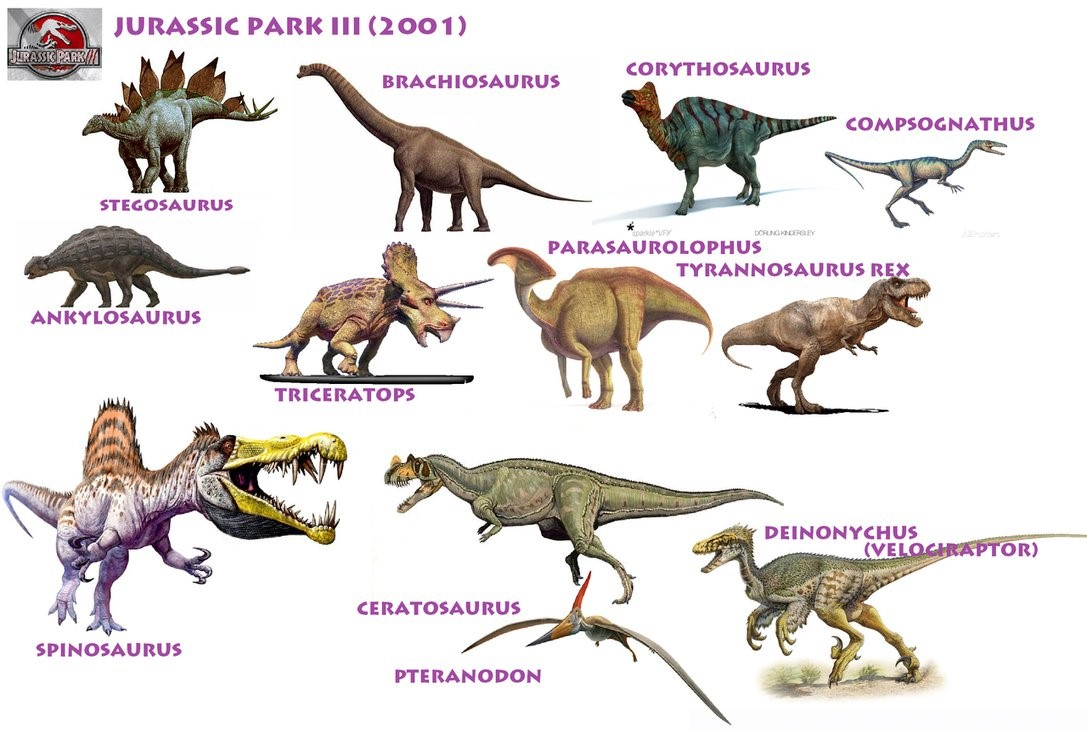 a closer look at the dinosaurs of jurassic park and