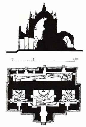 Manuha Temple Cross Section