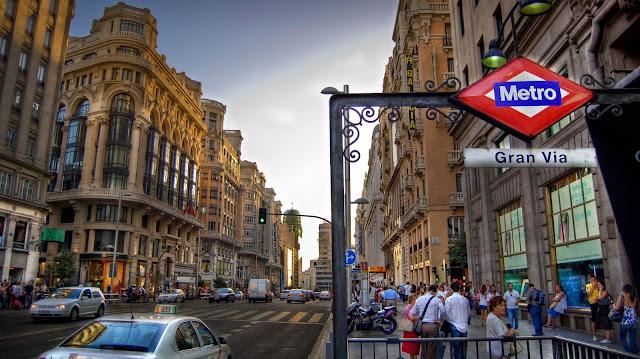 Compras na Gran Via em Madri