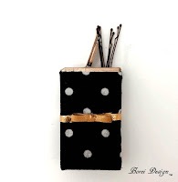 Recycled Polka Dot Bow Bobby Pin Storage Container