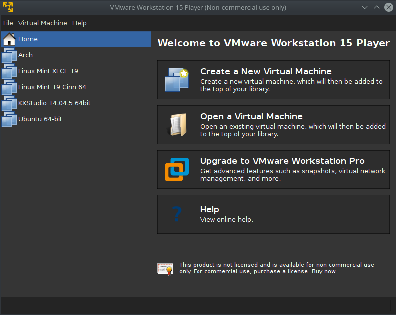 Creating a Virtual Machine In VMware Workstation 15 Player
