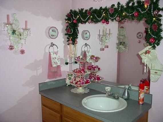 Decorar un ba o en navidad colores en casa for Decoracion de espejos paso a paso