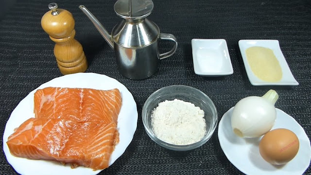 Bolitas de salmón. Ingredientes