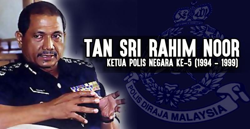 Tan Sri Abdul Rahim Bin Mohd Noor Ketua Polis Negara Ke 5 1994 1999 Salute Sang Saka Biru