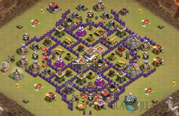 Base War TH 8 di Clash Of Clans Terbaru 2017 Tipe 16