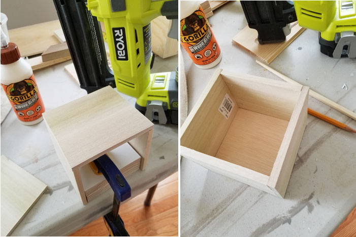 Gorilla wood glue and Ryobi pneumatic nailer