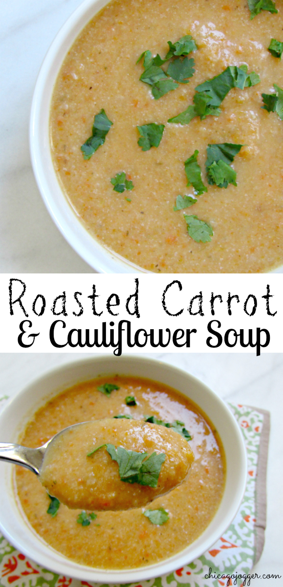 Chicago Jogger: Roasted Carrot & Cauliflower Soup.