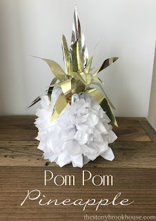 Easy Pom Pom Pineapple