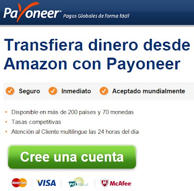 amazon transferir dinero payoneer