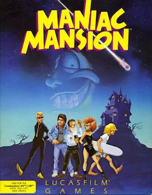 Portada original Maniac Mansion