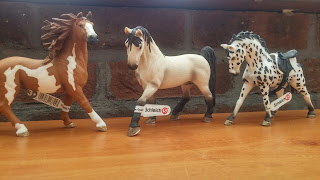 three schleich horses