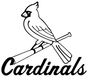 cardinals coloring pages baseball logos | Ad Logo: Cardinals Logo
