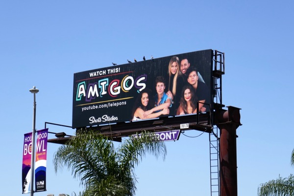 Amigos YouTube billboard