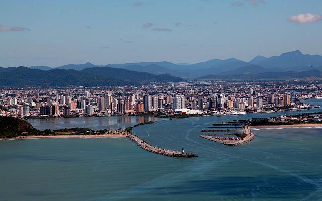 Vista aérea de Itajaí