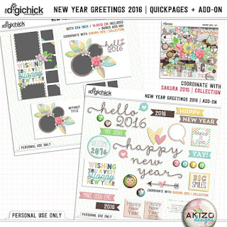 New Year Greetings 2016 by Akizo Designs