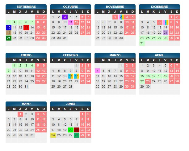 Calendario Escolar Aragon 2020.Ampa Ies Goya Zaragoza Calendario Escolar 2018 2019