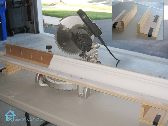 crown molding how to using miter saw and jig