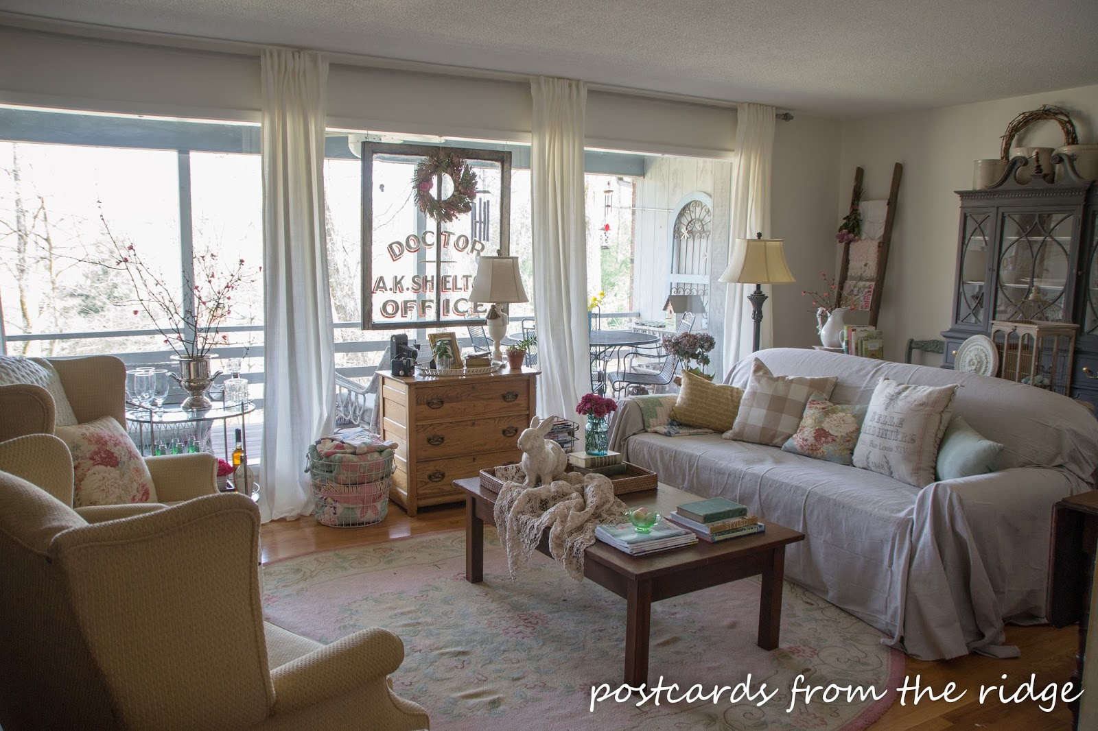 New Furniture Arrangement And Spring Decor In The Living Room Postcards From The Ridge