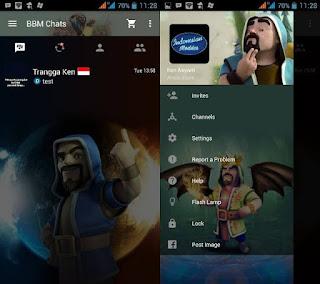 BBM Mod Tema Wizard COC v2.10.0.35 Clone (Dual BBM)