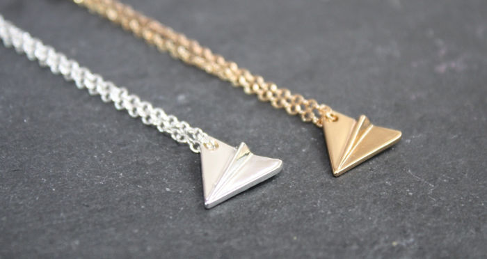 15+ Of The Best Traveler Gift Ideas Besides Actual Plane Tickets - Paper Plane Necklace