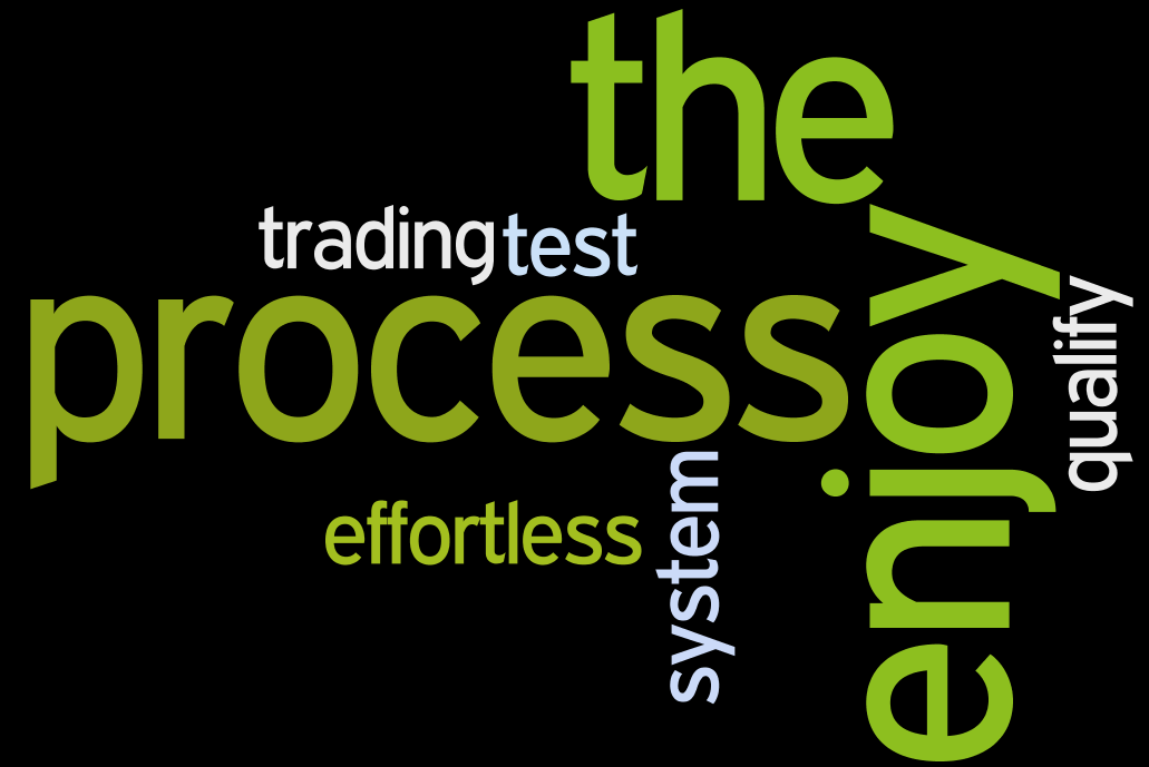 enjoy the process of becoming a consistently profitable trader