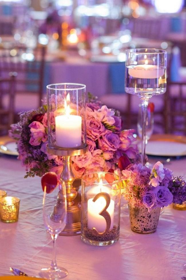 centros de mesa con copas altas