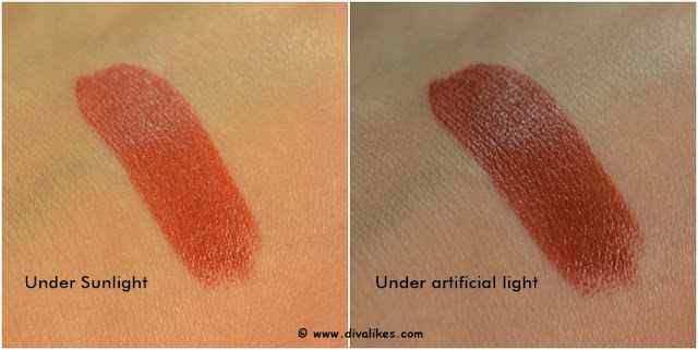 Nykaa So Matte Fall Winter Lipstick Hot Shot Espresso Swatch