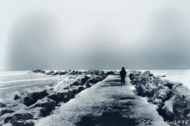 Marea înghețată la Constanța - 1996 - blog FOTO-IDEEA