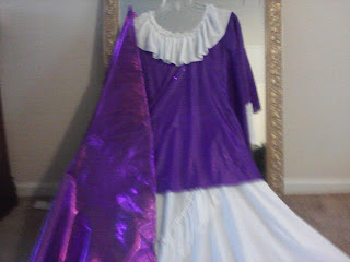 copyright 2012 katina davenport purple tunic with match purple dance flag.