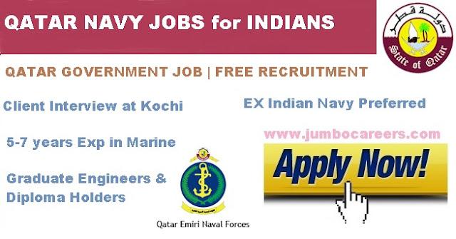 Government of Qatar Jobs in Qatar Navy - Free Recruitment