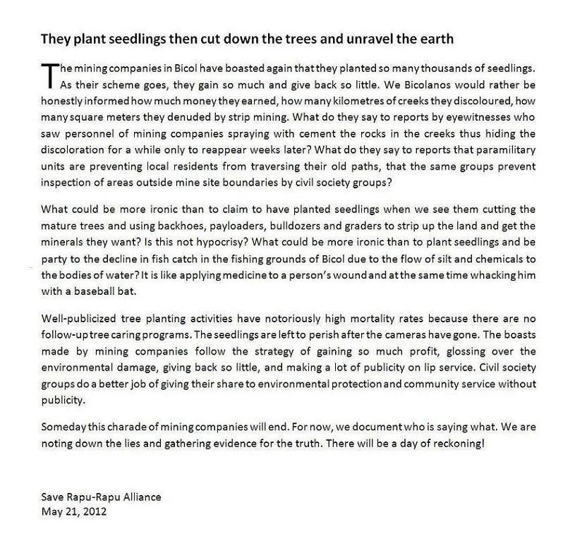 SAVE RAPU-RAPU  SAVE OUR FUTURE : Pastoral Bulletin 10, s