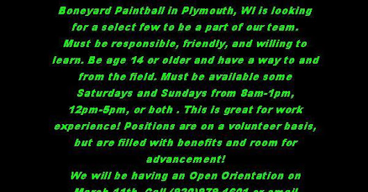 Paintball Referees Wanted!!!