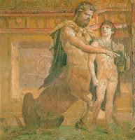 Aquiles y el centauro Quirón. Fresco de Herculano (Augusteum o Basílica).jpg