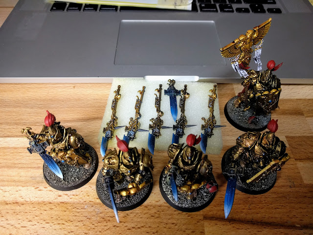 Finished Custodes with various weapons options