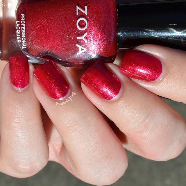 cherry metallic nail polish