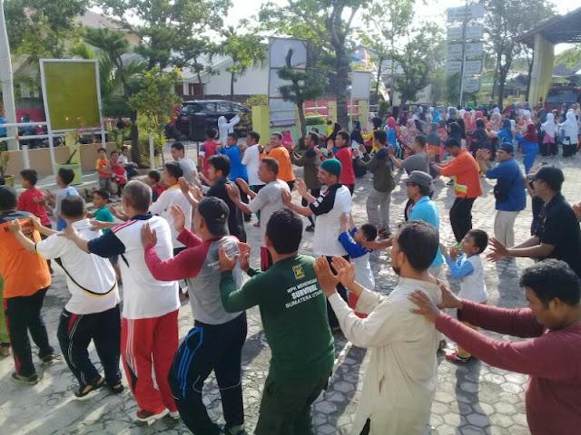 Sambut Milad ke 19, PKS Medan Belawan Gelar Senam Nusantara