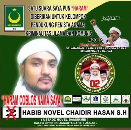 'Haram Coblos Novel Bamukmin di Pemilu!'