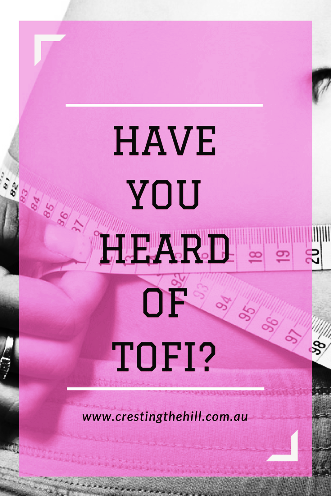 Have you heard of TOFI? It's something a lot of us are encountering - and it has nothing to do with Tofu or a healthy diet.