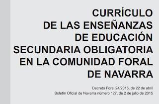 CURRÍCULO DE LAS ENSEÑANZAS DE EDUCACIÓN SECUNDARIA OBLIGATORIA