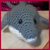 Delfín grande amigurumi